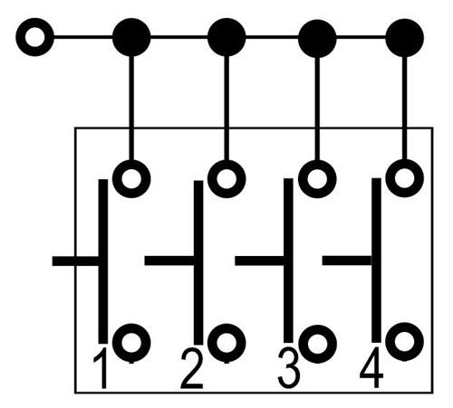 24312 4 button 1 stage pendant 1pc